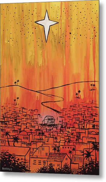 Metal Print featuring the painting His Delight by Nathan Rhoads