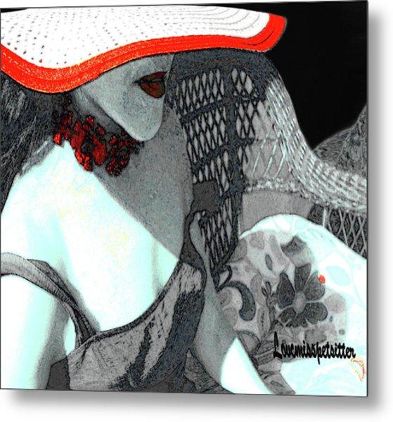 Abstract Woman Art 1 Metal Print