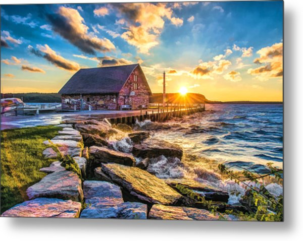 Historic Anderson Dock In Ephraim Door County Metal Print