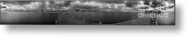 Historic Anna Maria City Pier In Infrared Metal Print