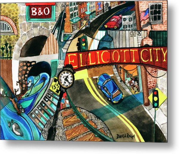 Historic Ellicott City Steam And Stone Metal Print
