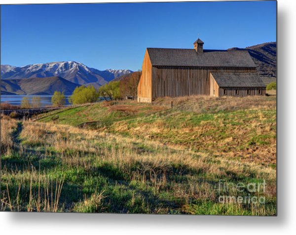 Historic Francis Tate Barn - Wasatch Mountains Metal Print