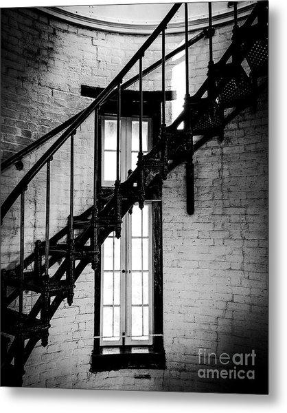 Historic Lighthouse Steps Metal Print by JMerrickMedia