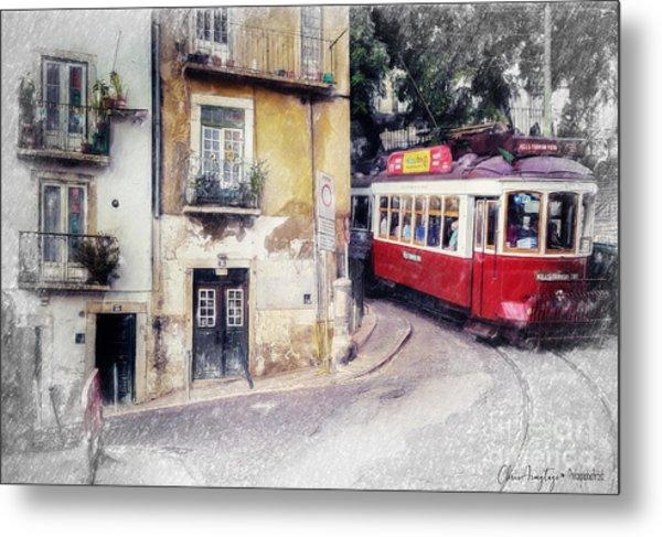 Historic Lisbon Tram Metal Print