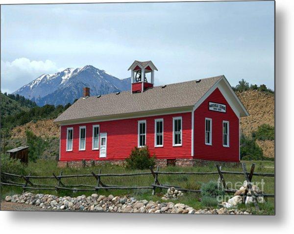 Historic Maysville School In Colorado Metal Print