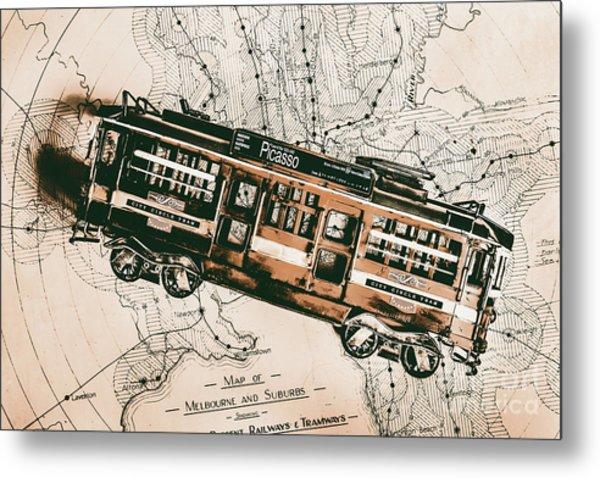Historic Melbourne Tram Adventure Metal Print