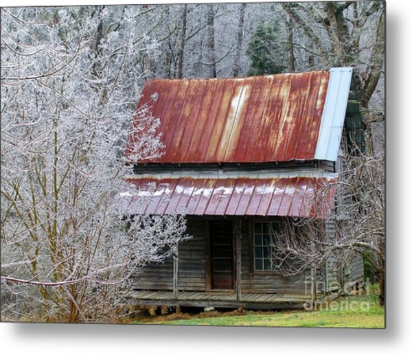 Historic North Carolina Cabin Metal Print