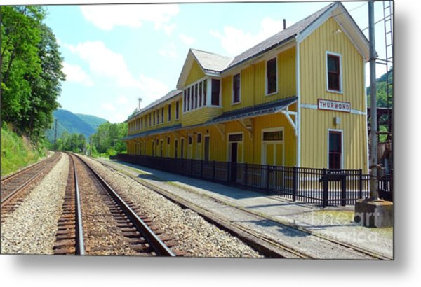 Historic Passenger Train Depot Thurmond West Virginia Metal Print