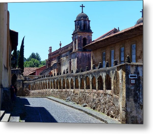 Historic Patzcuaro Metal Print
