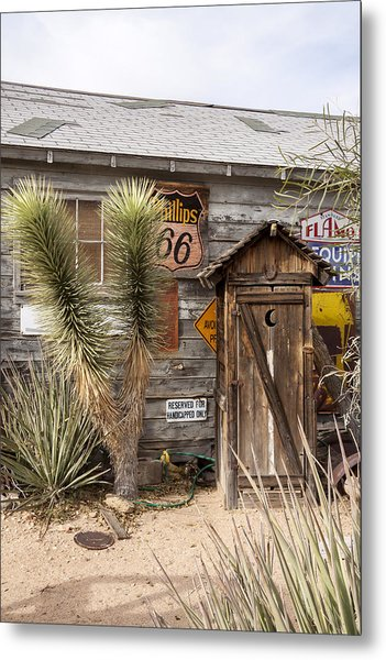 Historic Route 66 - Outhouse 1 Metal Print