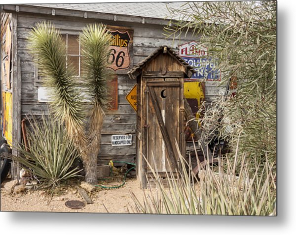 Historic Route 66 - Outhouse 2 Metal Print