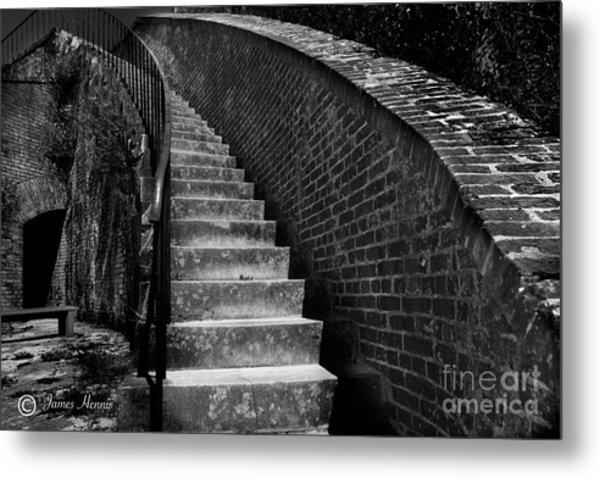Historic Stairwelll Metal Print