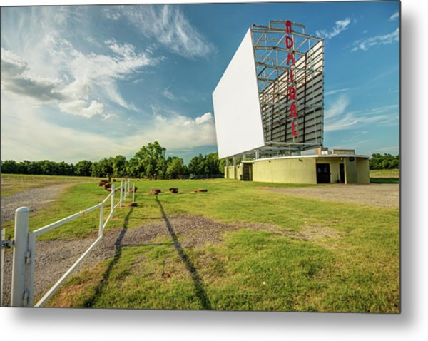 Metal Print featuring the photograph Historic Tulsa Admiral Twin Drive-in by Gregory Ballos