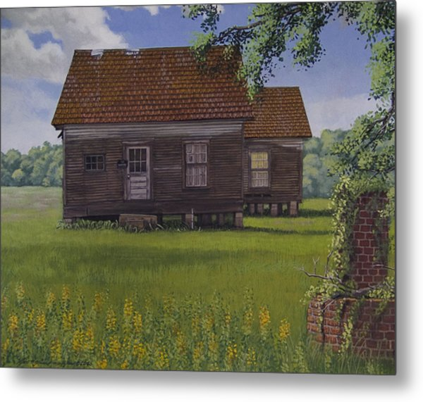 Historical Warrenton Farm House Metal Print by Peter Muzyka