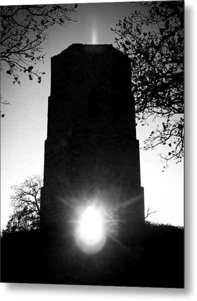 Historical Water Tower At Sunset Metal Print