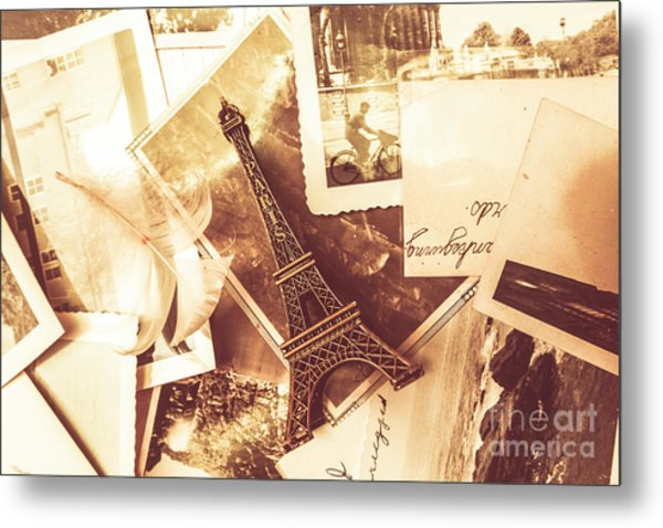 History And Sentiment Of Vintage Paris Metal Print