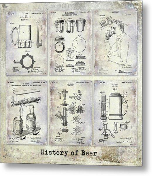 History Of Beer Patents Metal Print