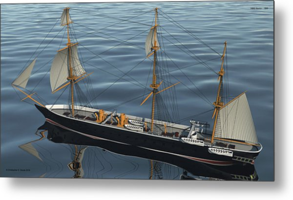 Hms Warrior 1860 - Stern To Bow Ocean Metal Print by Christopher Snook