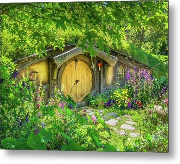 Hobbit Cottage Metal Print