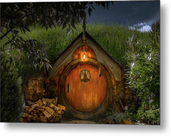Hobbit Dwelling Metal Print