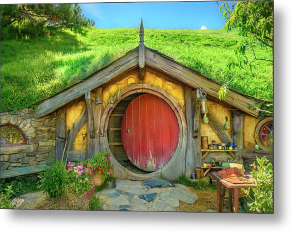 Hobbit House Metal Print