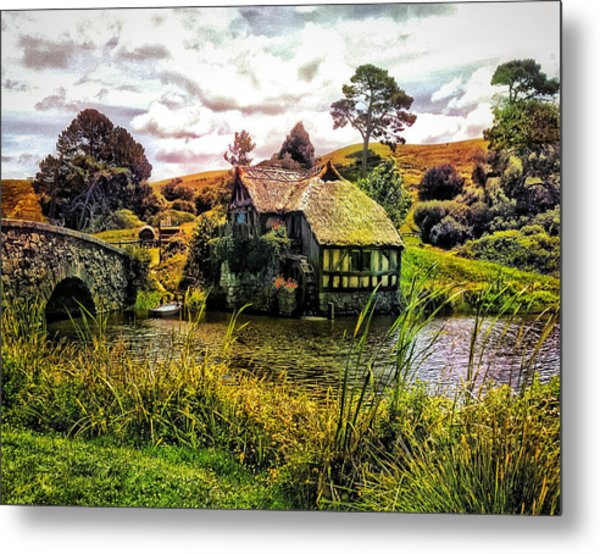 Hobbiton Mill And Bridge Metal Print
