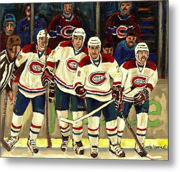 Hockey Art The Habs Fab Four Metal Print