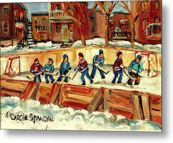 Hockey Rinks In Montreal Metal Print