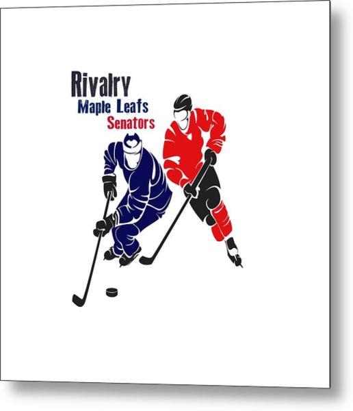 Hockey Rivalry Maple Leafs Senators Shirt Metal Print