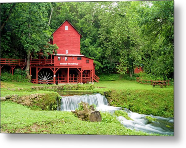 Hodgson Water Mill Metal Print