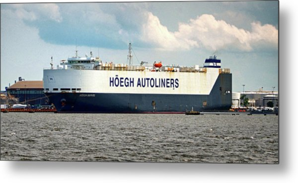 Metal Print featuring the photograph Hoegh Autoliners Heogh Maputo 9431850 At Curtis Bay by Bill Swartwout Fine Art Photography