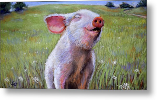 Hog Heaven Metal Print