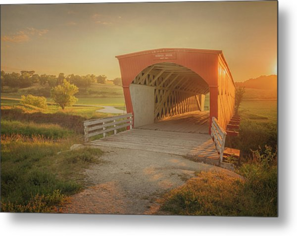 Metal Print featuring the photograph Hogback Covered Bridge by Susan Rissi Tregoning
