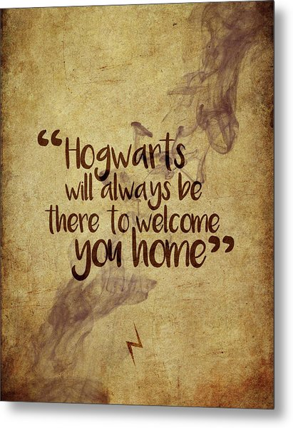 Hogwarts Is Home Metal Print