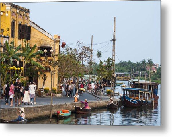 Hoi An Town Vietnam Metal Print