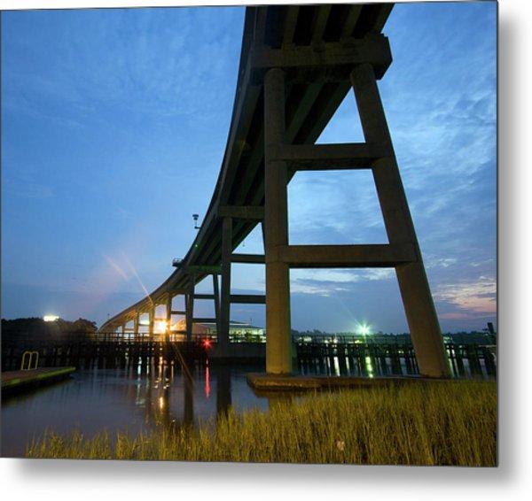 Holden Beach Bridge Metal Print