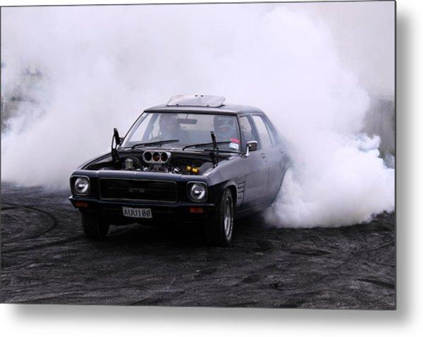 Holden Monaro Doing A Burnout Metal Print by Stephen Athea