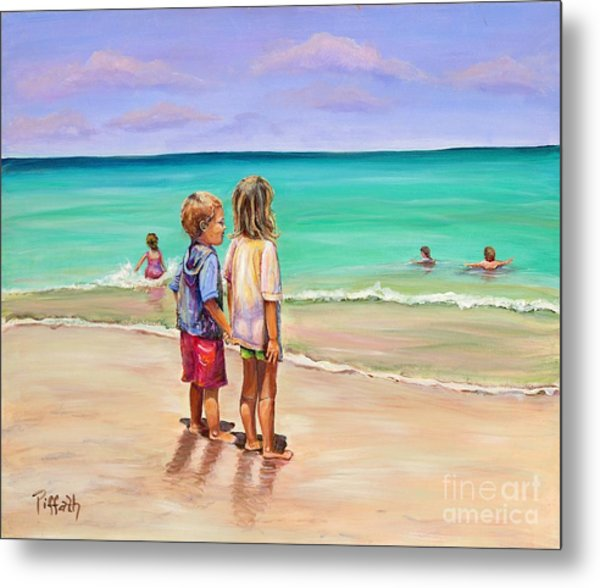 Holding Hands Metal Print