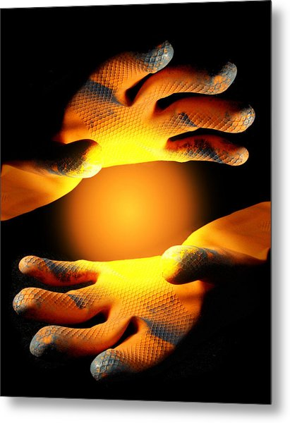 Metal Print featuring the photograph Holding Light by Rein Nomm