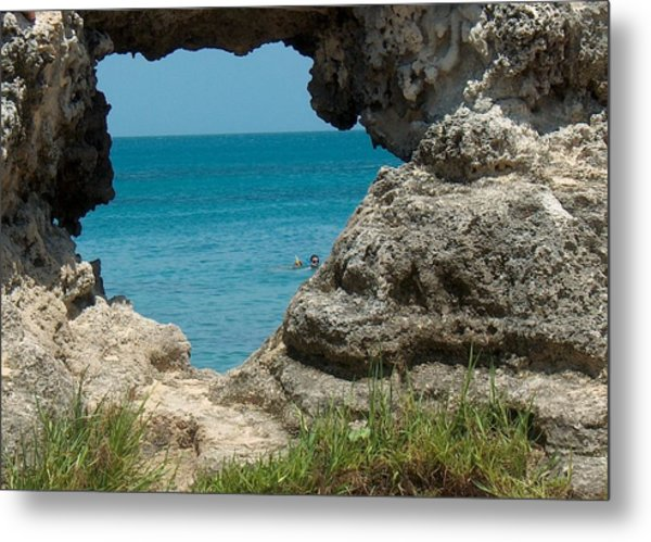 Hole In Rock Metal Print