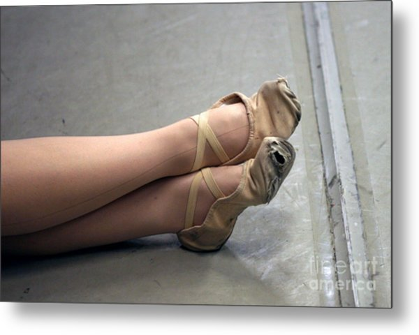 Holes In Dance Shoes Metal Print by Steve Augustin