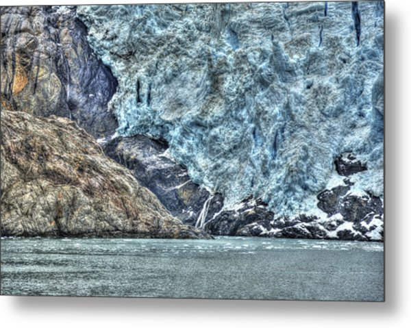 Holgate Glacier Hdr Metal Print