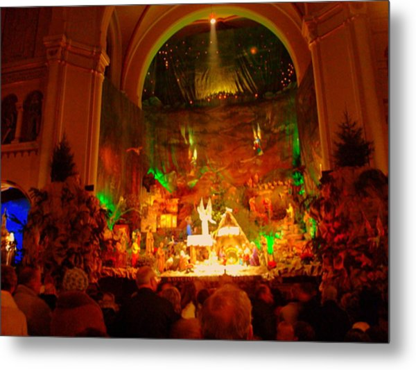 Holiday Decor In The Basilica Metal Print