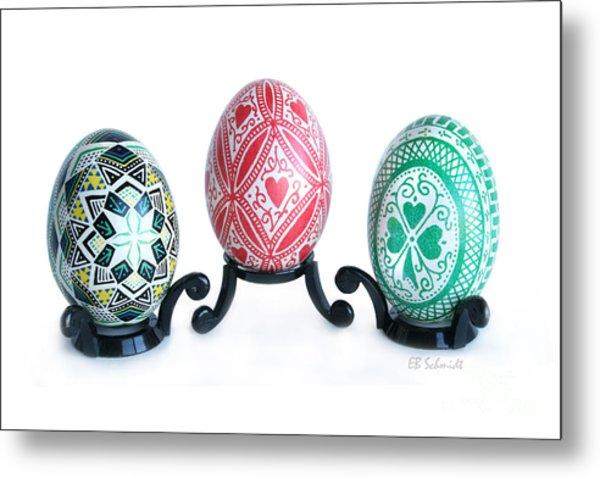 Holiday Eggs Metal Print