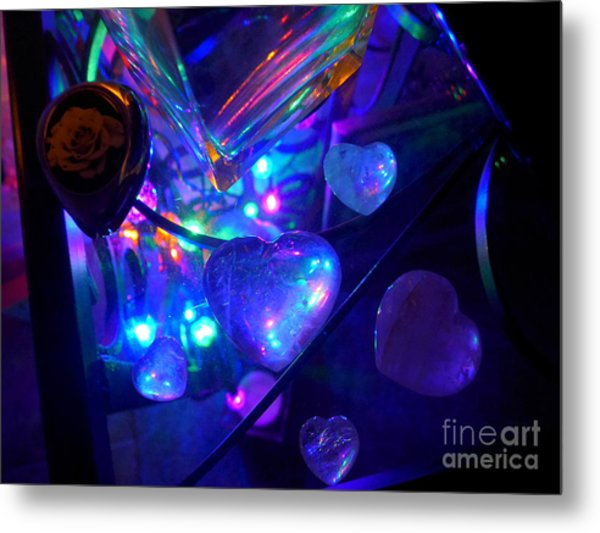 Holiday Hearts Metal Print