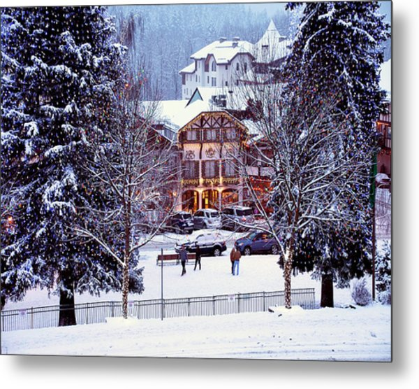 Holiday In The Village Metal Print
