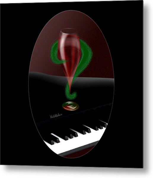 Holiday Interrobang Metal Print