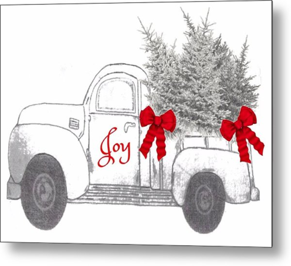 Metal Print featuring the digital art Holiday Joy Chesilhurst Farm by Kim Kent