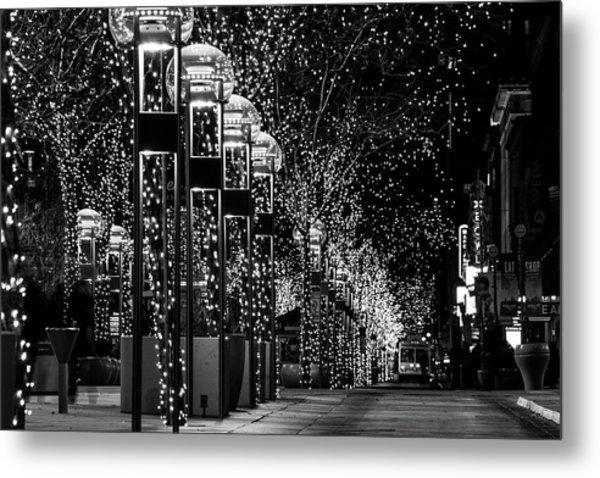Holiday Lights - 16th Street Mall Metal Print
