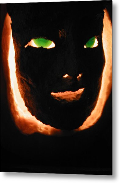 Holloween Mask Metal Print by Mark Stevenson